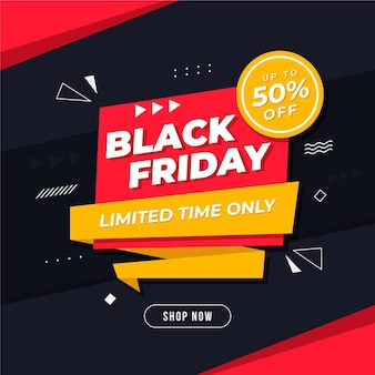 Black friday background with discount
