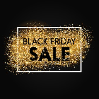 Black friday background with glittery design