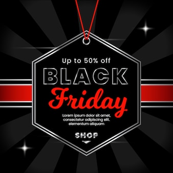 Black friday background with gradient
