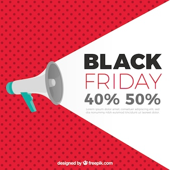 Black friday background with megaphone