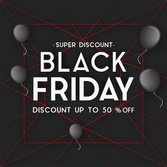 Black friday background with red lines