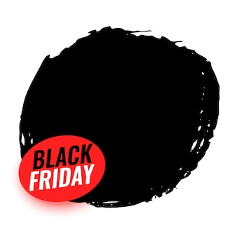 Black friday background with text space design