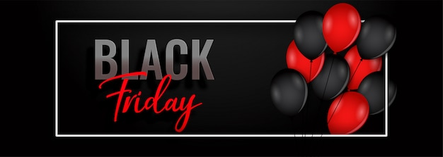 Black friday balloon banner