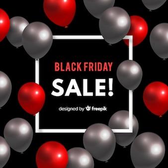 Sfondo di vendita palloncino nero venerdì