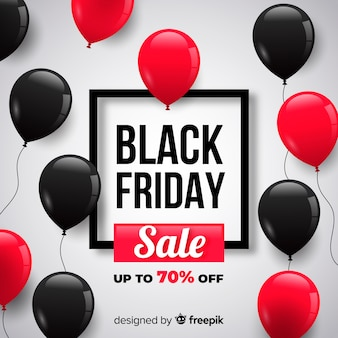 Black friday balloons background