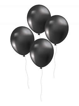 Black friday balloons decoration