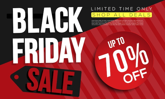 Black friday banner ads template