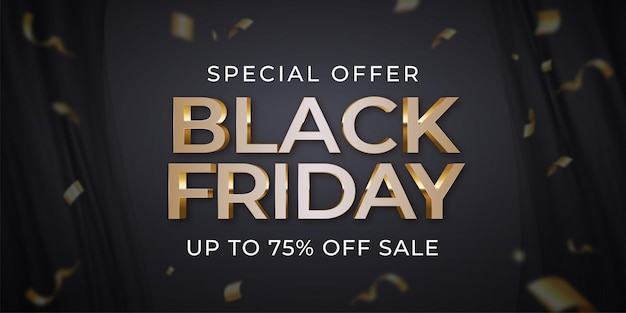 Black friday banner creative template