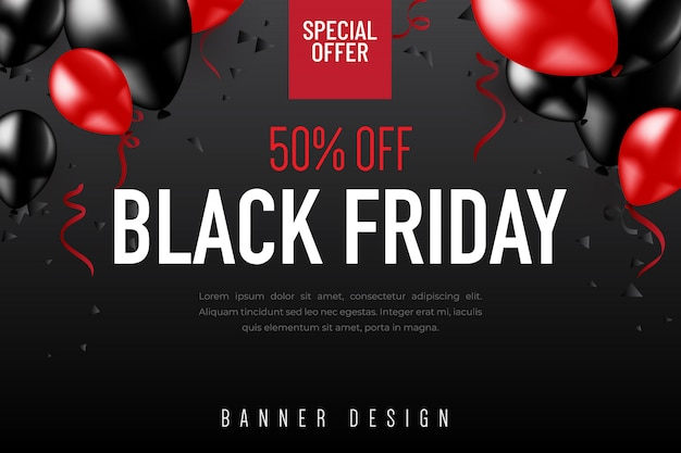 Black friday banner design