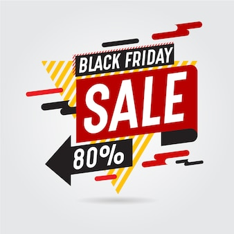 Black friday banner label abstract design