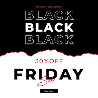 Black friday banner in paper style