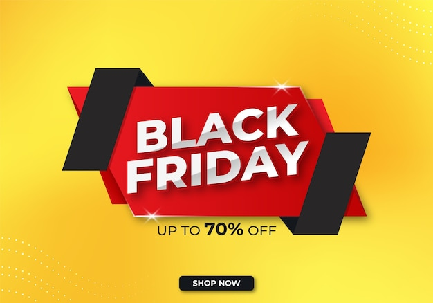 Black friday banner or sale banner with discount premium template