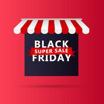 Black friday banner sale design template