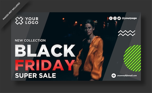 Black friday banner and social media post   design