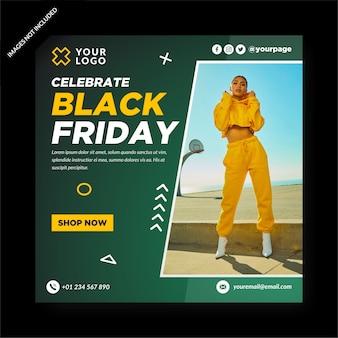 Black friday banner and social media post