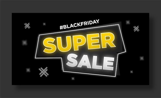 Black friday banner social media post
