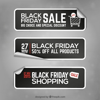 Black friday banner stickers