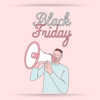 Черная пятница баннер супер распродажа скидка каракули объявление мужской распродажи