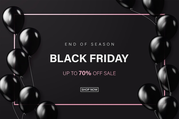 Black friday banner or tag template for web.