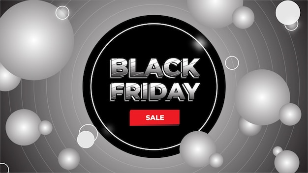 Black friday banner template with editable text