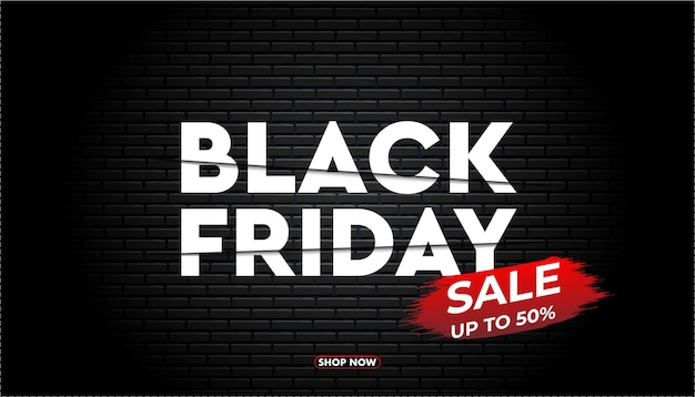 Black friday banner template.