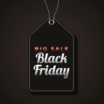 Черная пятница баннер с черной этикеткой и текстом