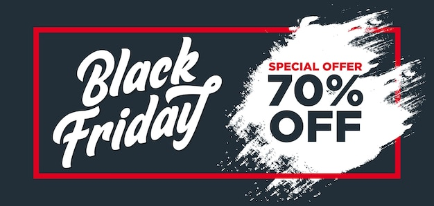 Black friday banner with dark background and grunge