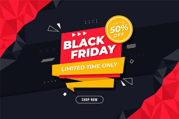 Black friday banner with discount