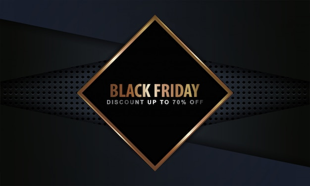 Black friday banner with modern and luxury style.