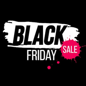 Black friday banner with paint splash. black friday background for promotion. template for black friday sale.