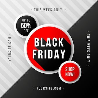 Black friday banner with red details