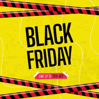 Black friday banner with ribbon