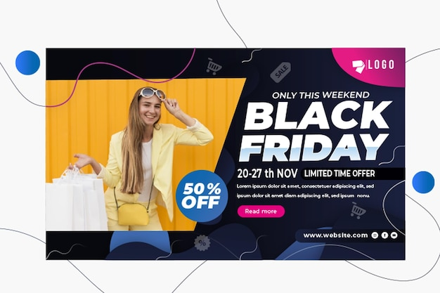Black friday banner Free Vector