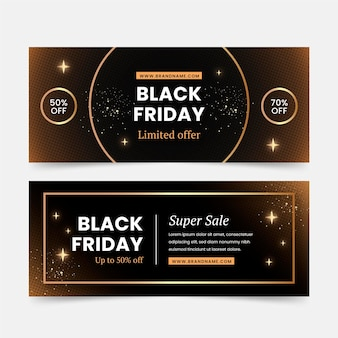 Black friday banners in flat design Free Vector