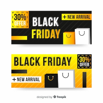 Black friday banners with in flat design