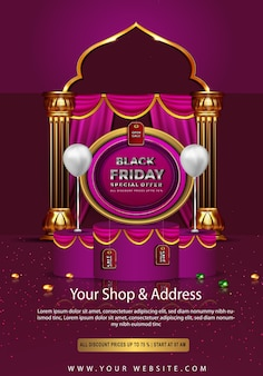 Black friday bautiful sale all discount princes up to poster