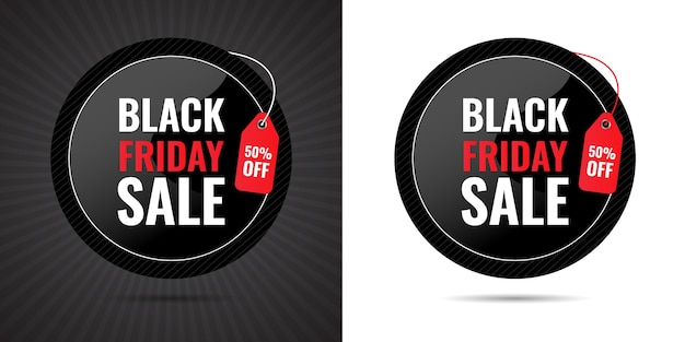 Black friday big 3d sale special limited time offer percent discount banner for mega sale and price tag design for social media post premium