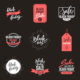 Black friday big sale advertisement set of banners