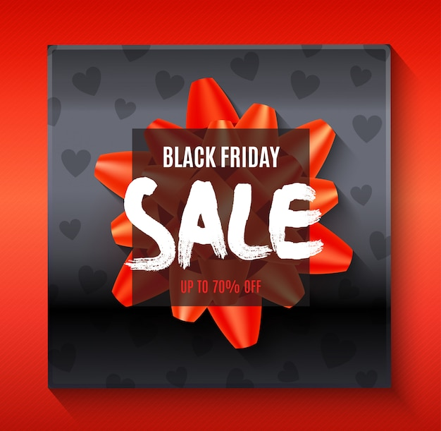 Black friday big sale banner template with abstract elements