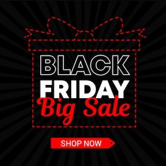 Black friday big sale dot line gift banner