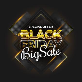 Black friday big sale golden elegant concept