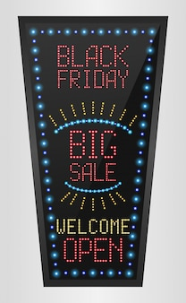 Black friday big sale led billboard banner