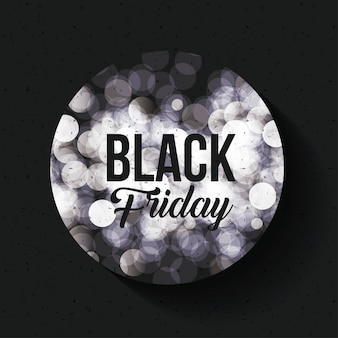 Black friday and blurred lights icon