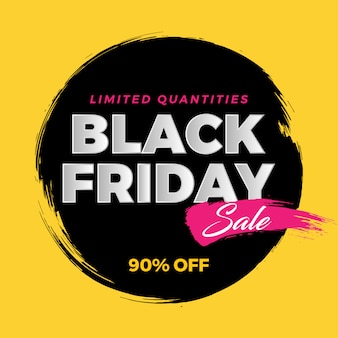 Black friday brush banner sale on yellow