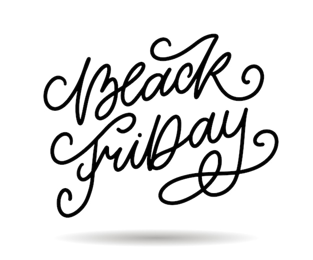 Black friday calligraphic designs retro style elements vintage ornaments sale