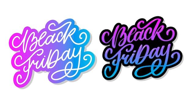 Black friday calligraphic designs retro style