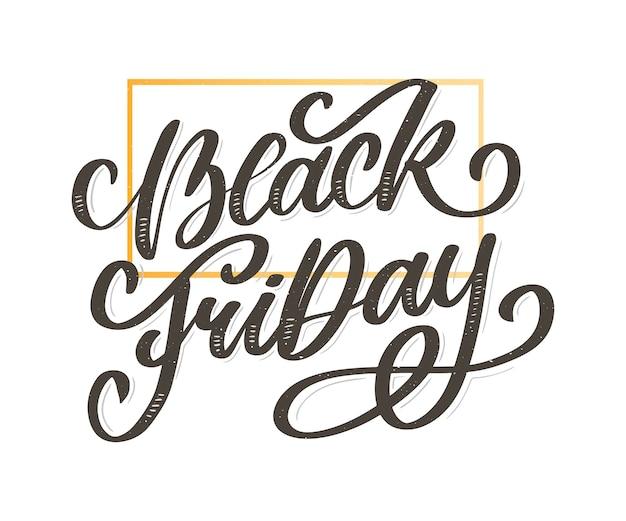Black friday calligraphic designs
