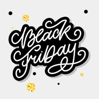 Black friday calligraphic lettering designs