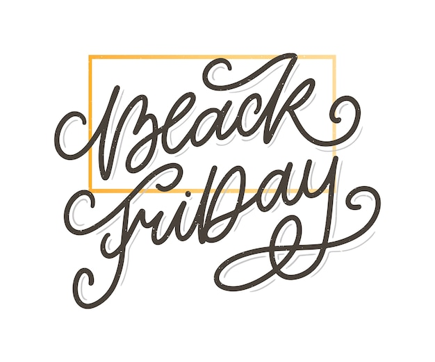 Black friday calligraphic retro style elements vintage ornaments sale, clearance lettering