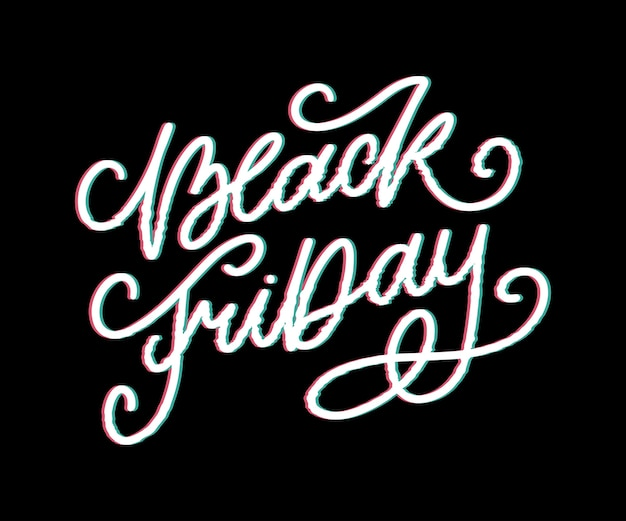 Black friday calligraphic